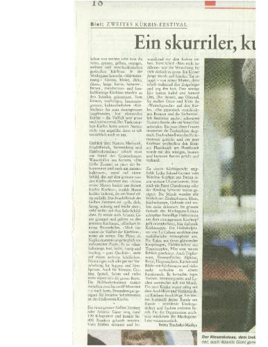 BielerTagblatt – Kürbis Festival