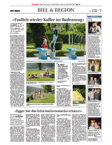 BielerTagblatt – Kaffee im Badeanzug