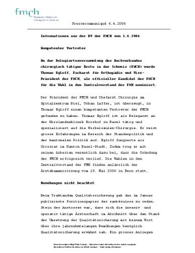 FMCH – Pressetext Infos DV 1.4.06