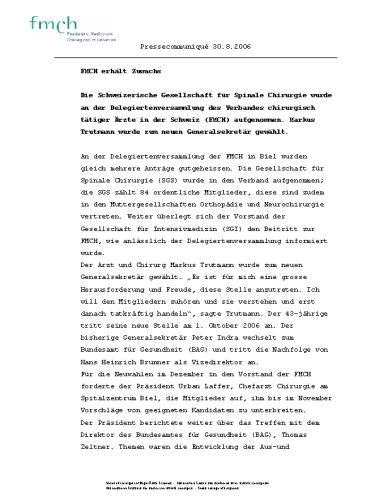 FMCH – Pressetext Zuwachs