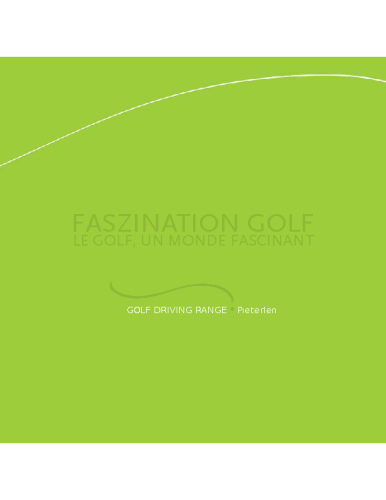 Golf Driving Range Pieterlen – Booklet Brochure