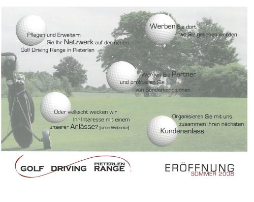 Golf Driving Range Pieterlen – Werbeflyer